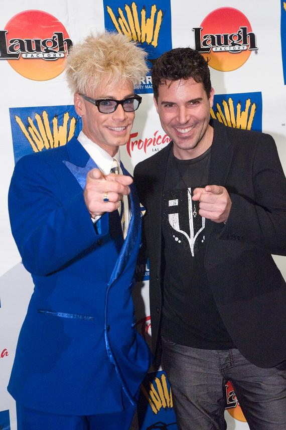 Murray Sawchuck with singer/musician Frankie Moreno