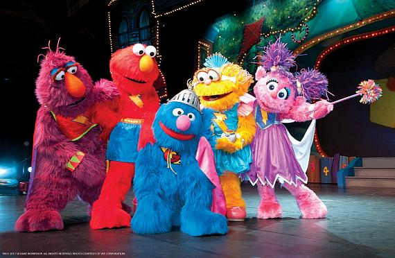 The Fab 5 Helping Super Grover