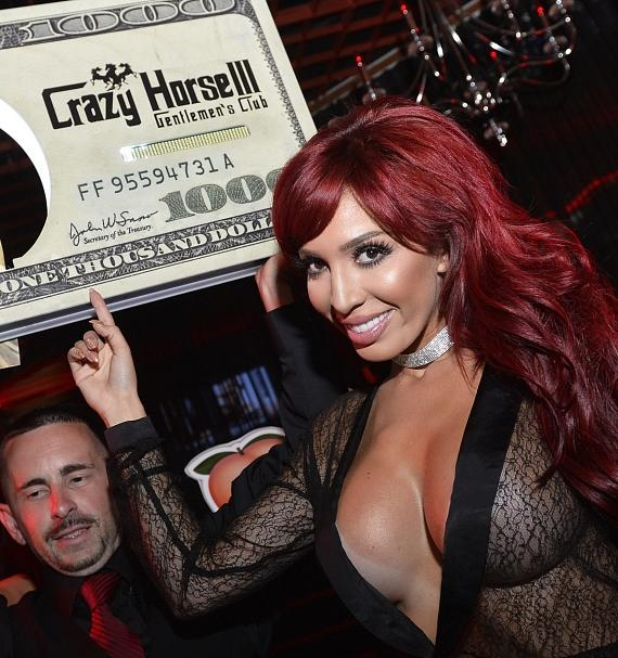 Farrah Abraham bottle presentation at Crazy Horse III in Las Vegas