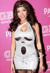 """Teen Mom"" Farrah Abraham Goes Greek at Ghostbar Dayclub's Toga Party inside Palms Casino Resort"