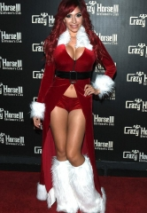 Reality Television Star Farrah Abraham Hosts at Las Vegas Gentlemen's Club Crazy Horse III as Sexy Santa