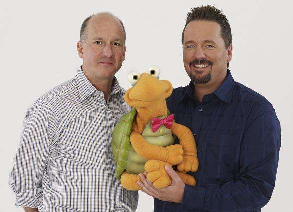 John and Terry (with Winston the Impersonating Turtle)