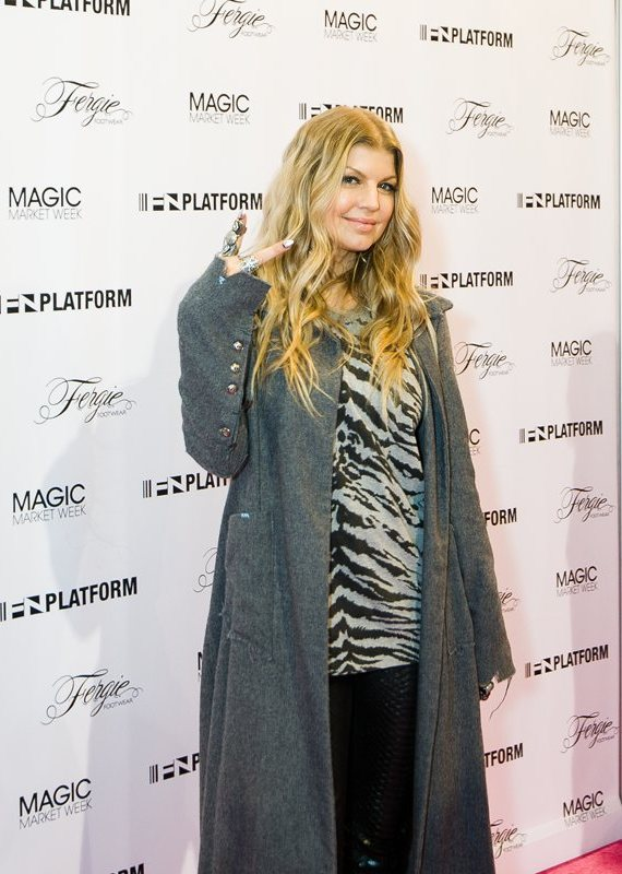 Fergie promotes Fergie Footwear Collection