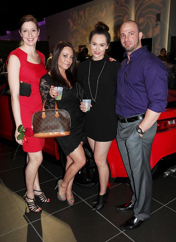 Ferrin Travis, Phoebe Boulester, Erin Palmer and Justin Martin at the Celebrity Cars Las Vegas grand opening