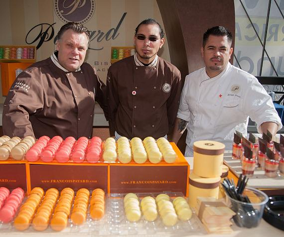 Francois Paryard and staff at patisserie station