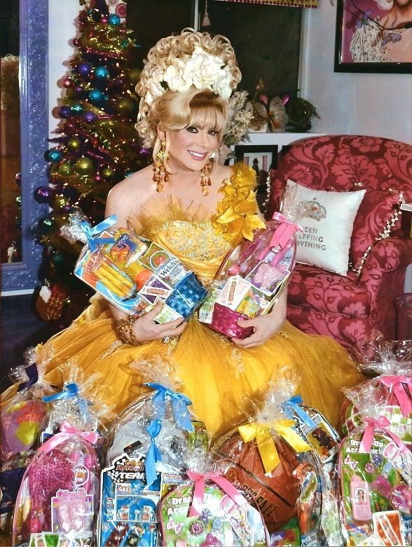 Original Diva Frank Marino with Easter Baskets