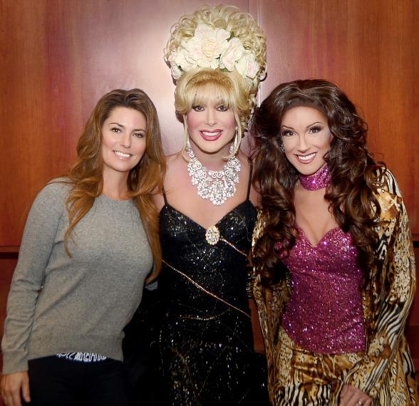 "Shania Twain with Frank Marino at ""Divas Las Vegas"" at The Quad Resort & Casino"