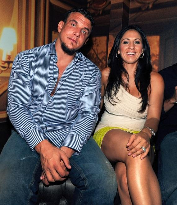 Frank Mir with wife, Jennifer, at Gallery Nightclub in Las Vegas