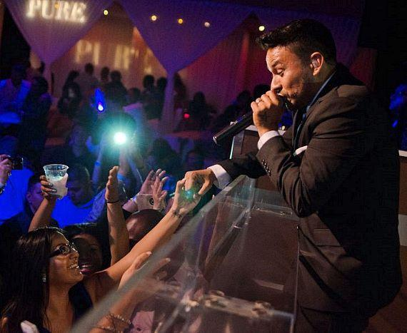 Frankie J performs at PURE Nightclub