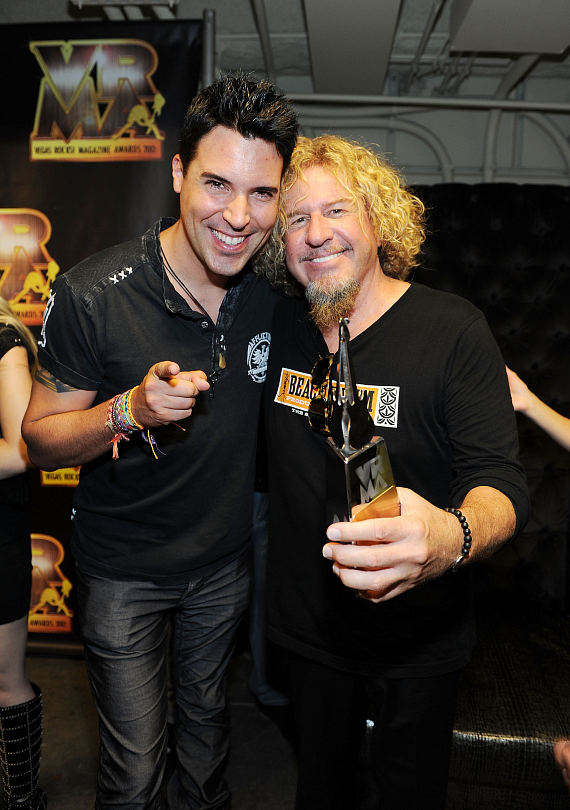 Frankie Moreno and Sammy Hagar