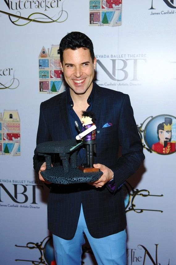 Frankie Moreno at the premiere of Nevada Ballet Theater's The Nutcracker