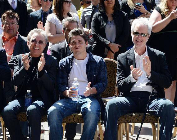 Frankie Valli, Francesco Valli and Bob Gaudio at star ceremony