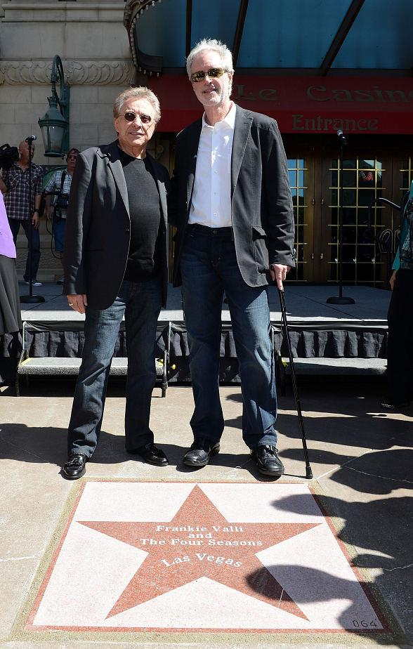 Frankie Valli and Bob Gaudio Recieve Star