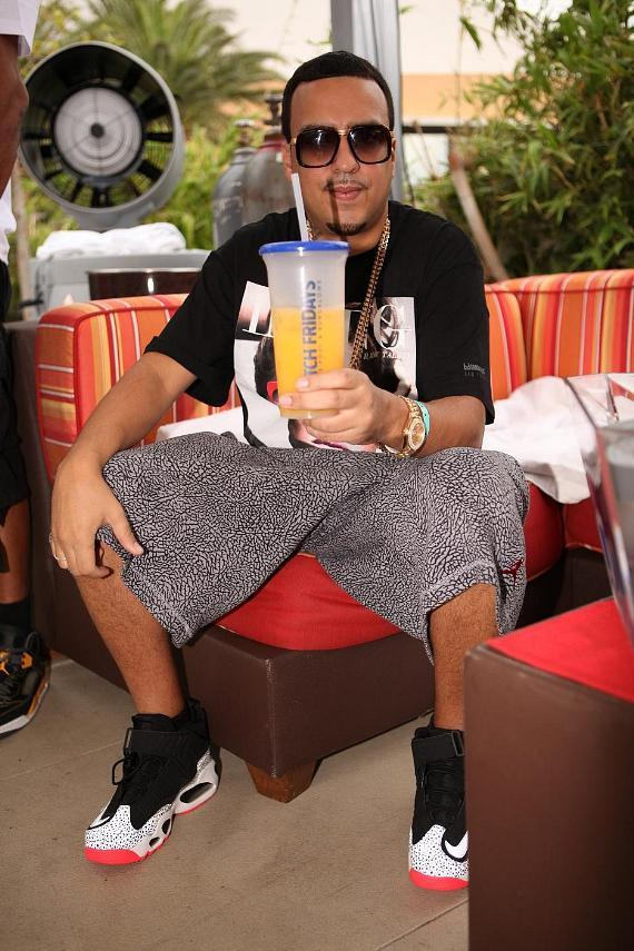 "French Montana sips on Ciroc and orange juice before hitting the stage at ""Ditch Fridays."""