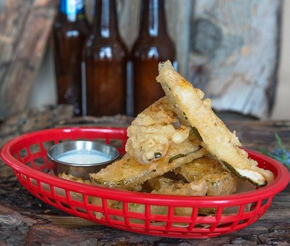 Fried Pickles with Ranch Dressing