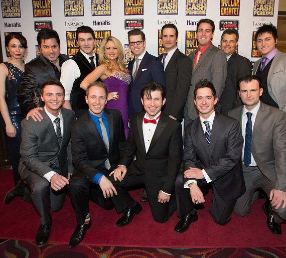 Million Dollar Quartet cast at Grand Opening, Harrah's Las Vegas