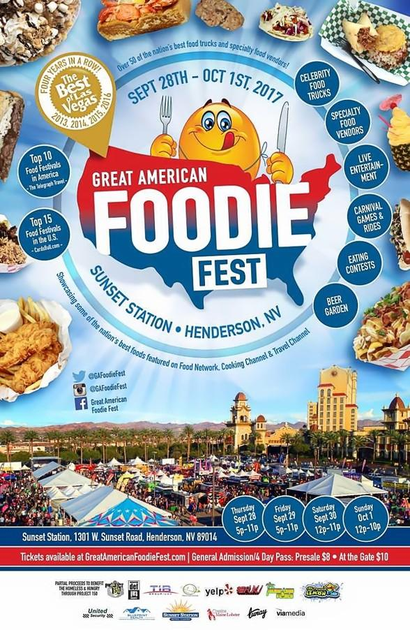 Great American Foodie Fest Returns to Sunset Station Casino in Las Vegas Sept. 28-Oct. 1