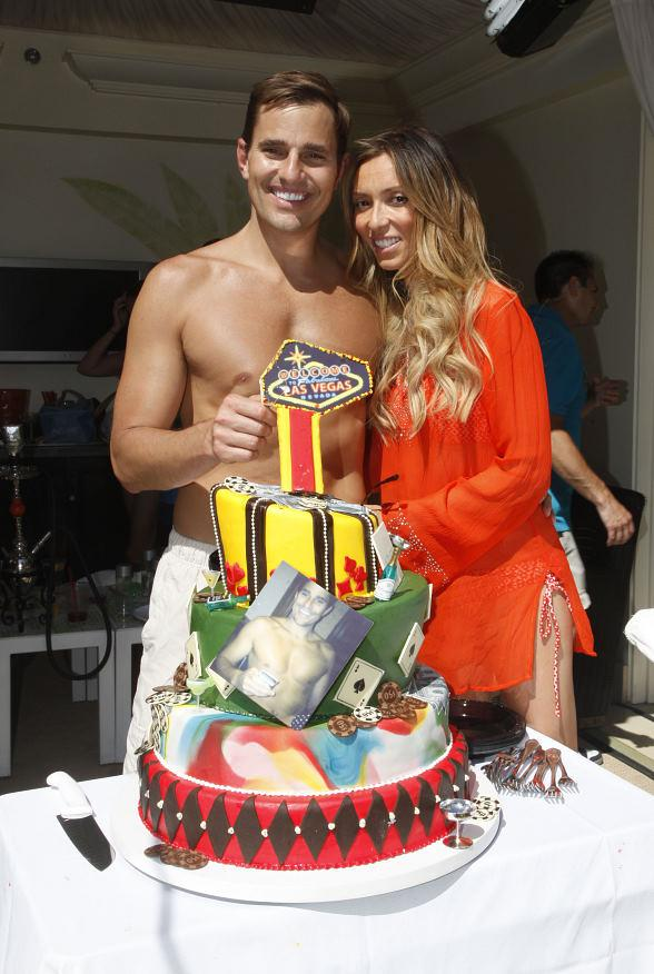 Giuliana and Bill with birthday cake