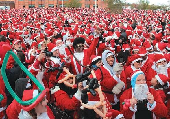 Opportunity Village's Great Santa Run