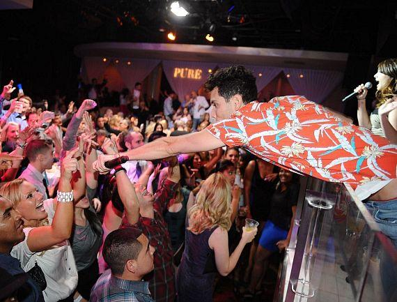 Gabe Saporta with Audience at PURE Nightclub