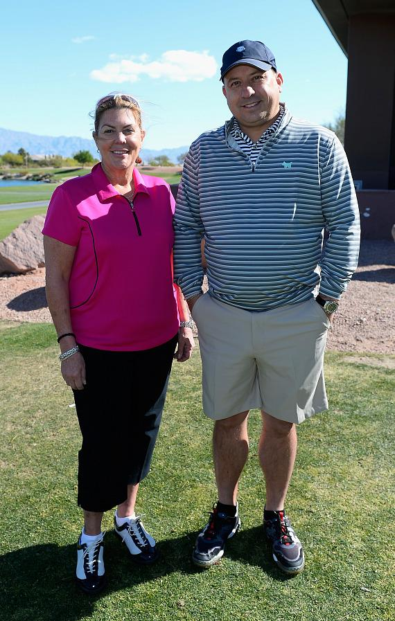Gayle Holcomb and Darin Murphy at ACM Lifting Lives Golf Classic at TPC Las Vegas