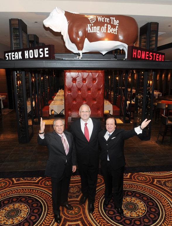 Marc Sherry, Gary Selesner and Greg Sherry inside the restaurant