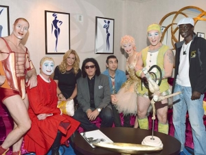 "Rock Legend Gene Simmons Visits ""O"" by Cirque du Soleil"