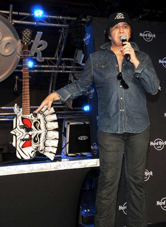 Gene Simmons talks about guitars being donated to Hard Rock's famous collection