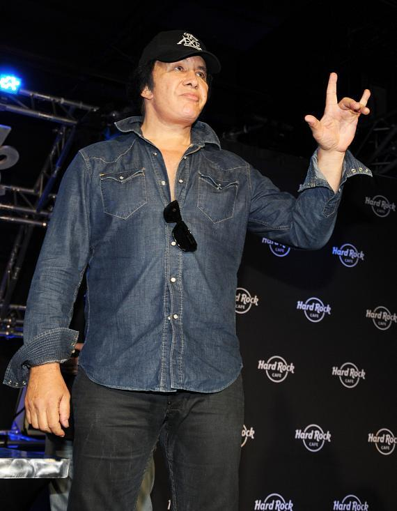 Gene Simmons takes the stage
