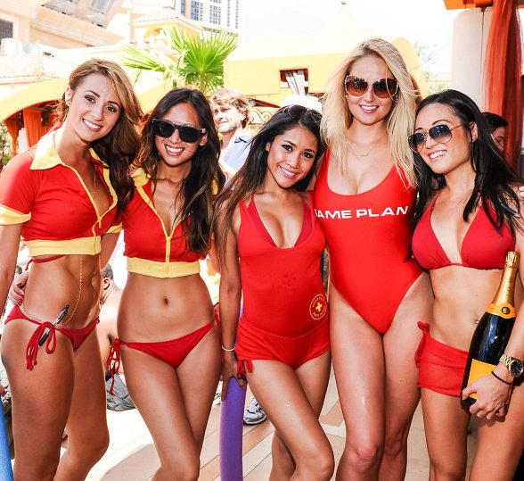 Swimwear Model Genevieve Morton hosts the Daytime Party at TAO Beach