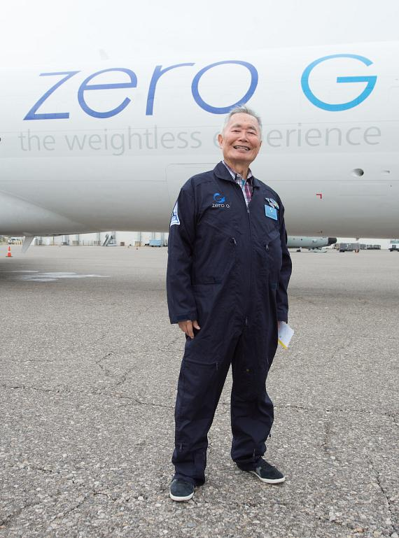 George Takei Outside ZERO-G's G-Force One