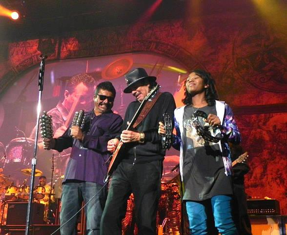George Lopez, Carlos Santana and Imani at The Joint