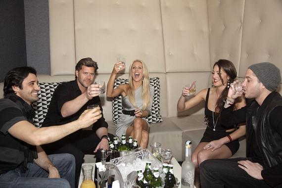 Giles, Slade, Gretchen, Roxy and husband toasting