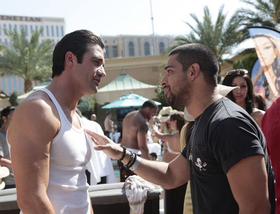 Gilles Marini and Wilmer Valderrama at Azure at The Palazzo