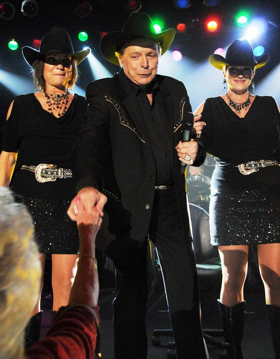 Country legend Mickey Gilley performs at Treasure Island Las Vegas