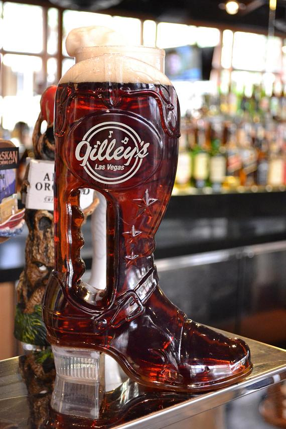 Gilley's beer boot