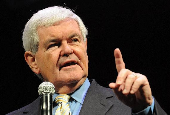 Republican Presidential Candidate Newt Gingrich speaks at The Venetian ...