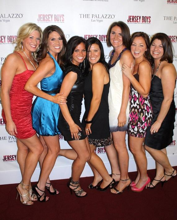 The girls at Jersey Boys