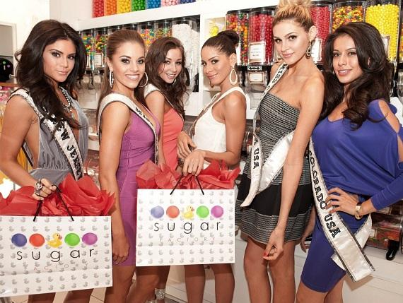 Miss USA contestants have a sweet shopping spree at Sugar Factory