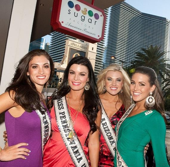 Miss USA contestants enjoy an afternoon at Sugar Factory American Brasserie in Las Vegas