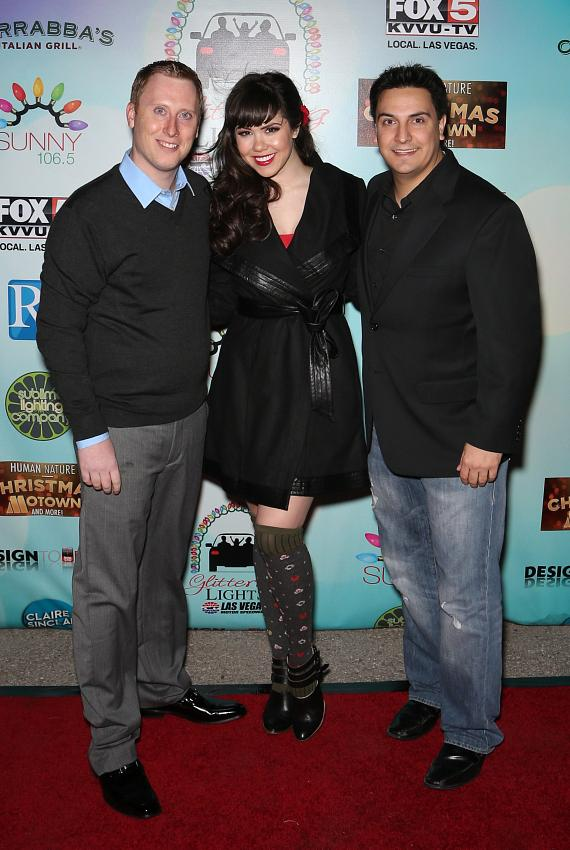Claire Sinclair, Star of Pin Up at Stratosphere and Sunny 106.5 talent John Mac and Marco