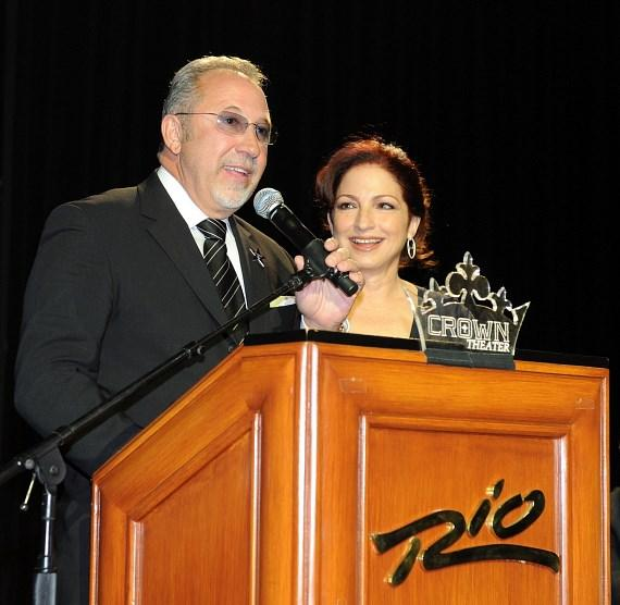 Gloria and Emilio Estefan receive a star from Las Vegas Walk of Stars