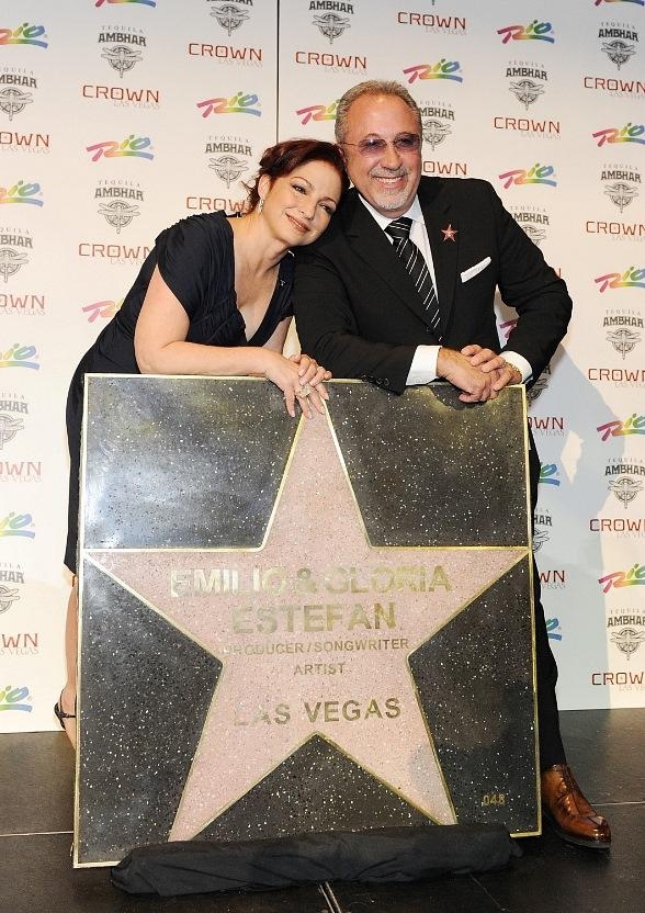 Gloria and Emilio Estefan Receive Star from Las Vegas Walk of Stars