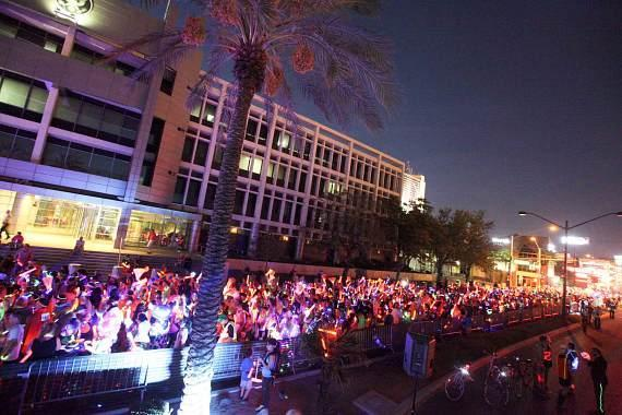 GlowRun starting line