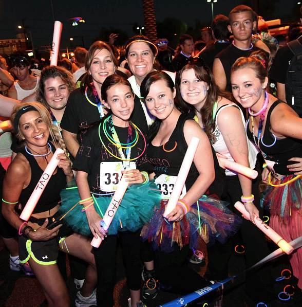 GlowRun at the starting line