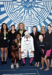 """Rio Olympic medalist Cody Miller at """"O"""" by Cirque du Soleil; Gold-winning Water Polo Team also in Attendance"""
