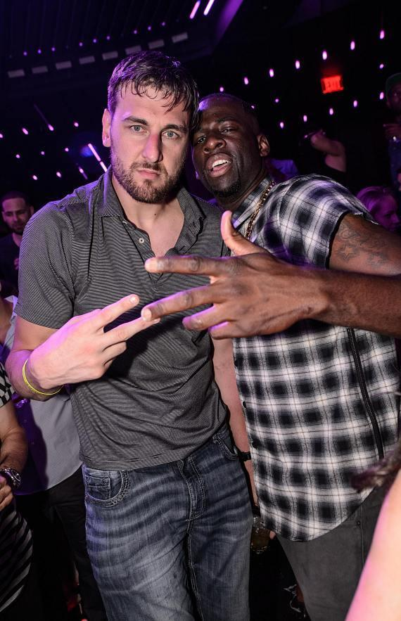 Golden State Warriors Andrew Bogut and Draymond Green at Marquee