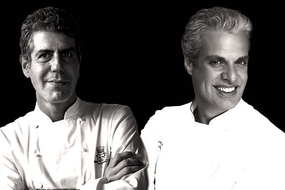 Anthony Bourdain and Eric Ripert 