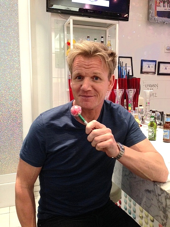 Celebrated Chef Gordon Ramsay Visits Sugar Factory at Miracle Mile Shops in Las Vegas