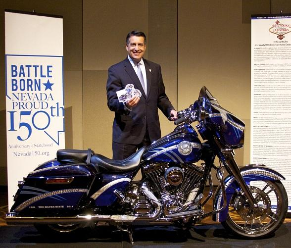 Gov. Brian Sandoval is Ready to Ride with Las Vegas Harley-Davidson Raffle Ticket